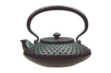 Teekanne aus Gußeisen