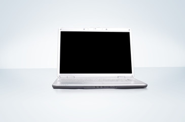 Professional Laptop isolated on gradient background