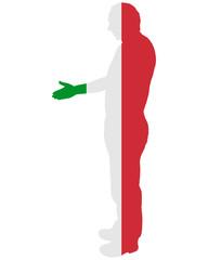 Italienischer Handschlag