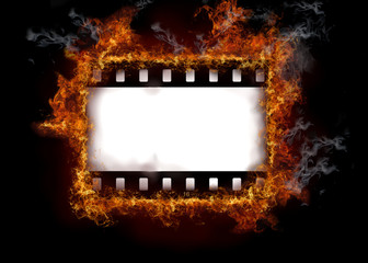 Burning film strip