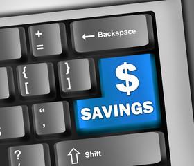 "Keyboard Illustration ""Savings"""