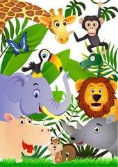 Canvas Prints Zoo Animal cartoon