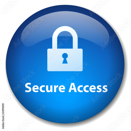 Secure Access Web Button Internet Security Session Padlock Icon