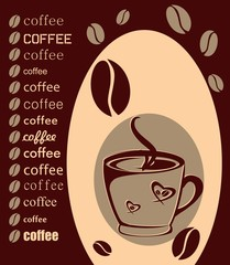 Coffe With Beans And Text