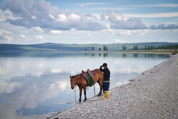 Jeune cavalier mongole