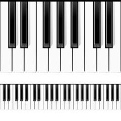 Piano keys. Seamless illustration.