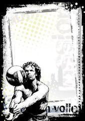 beach volleyball background