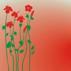 Creative design hibiscus flowers background