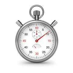 Isolated stopwatch. Clipping path included.