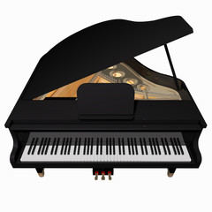 Grand-piano isolated on a white background