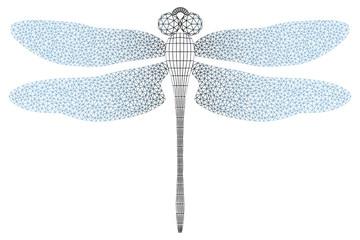 stylized dragonfly