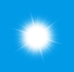 Close to the sun on a blue background.