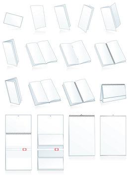 Print-press paper binding. Leaflets, booklets, calendars