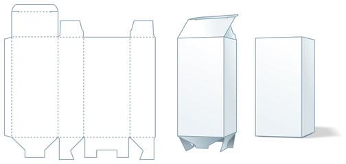 Cardboard box die-stamping - three steps of making