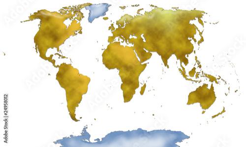 Planisfero completo su sfondo bianco immagini e for Mappa mondo bianco e nero