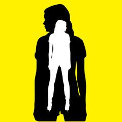 girl in girl silhouette