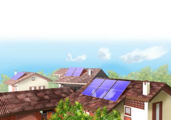 Tetti pannelli solari
