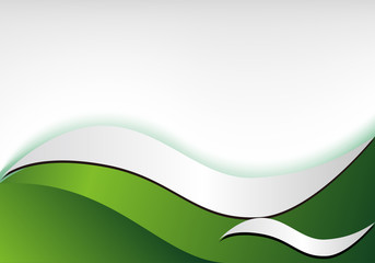 green Gradient background design curve