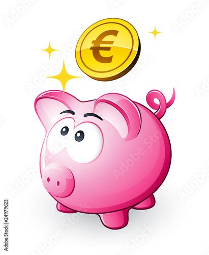 cochon tirelire et conomies euro fichier vectoriel libre de droits sur la banque d 39 images. Black Bedroom Furniture Sets. Home Design Ideas