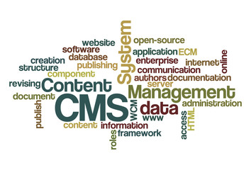 CMS Content Management System - Word Cloud