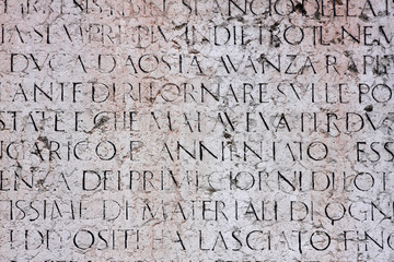 Ancient italian text