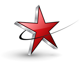 Logo red dynamic star