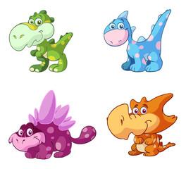 cute baby dinosaur set