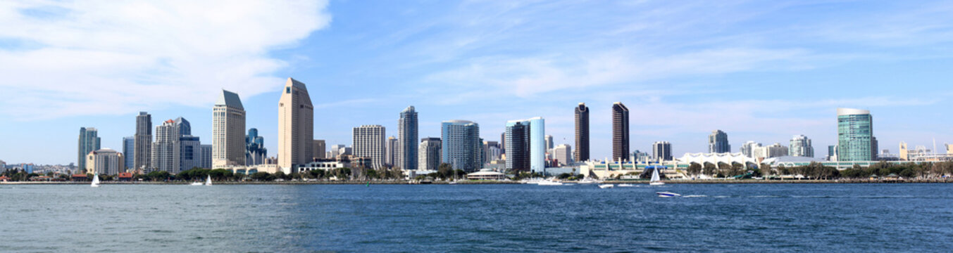 San Diego Skyline Downtown Panorama