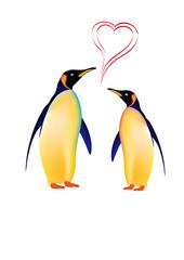 pinguini innamorati in ai