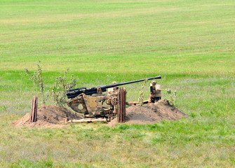 Wall Mural - Old anti aircraft gun
