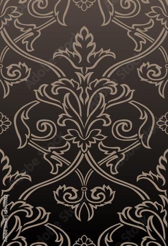 brown tone damask style - photo #5