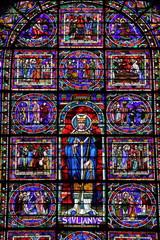 Tuinposter Imagination Vitraux, Cathédrale Saint Julien, Le Mans