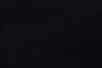 Black cloth. Texture. Striped pattern.