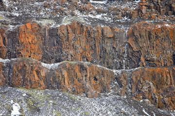 Arctic rocks background