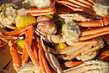 Crab leg picnic