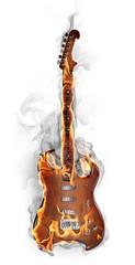 Poster Vlam Burning guitar