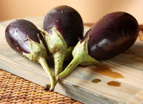 Fresh Baby Eggplants