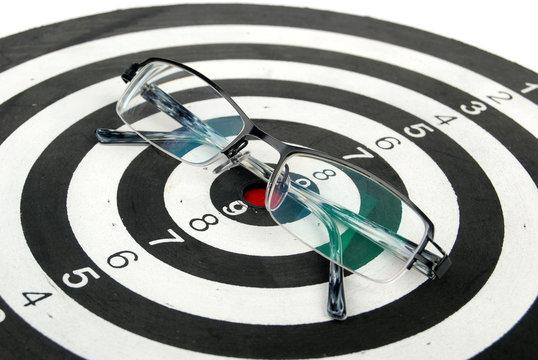 glasses on dart