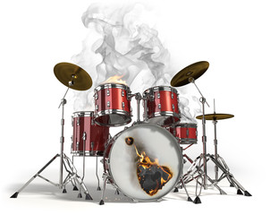 Burning drums