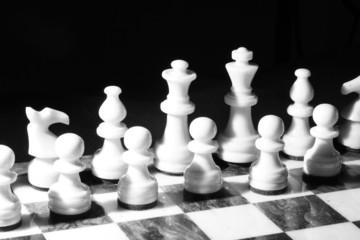 Schachbrett S/W im harten Licht