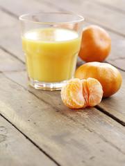 appetizer mandarin and fresh juice