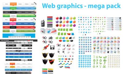 Web graphics - mega pack