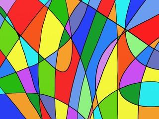 Foto auf AluDibond Klassische Abstraktion astratto colorato