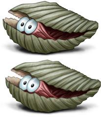 versteckte Muschel