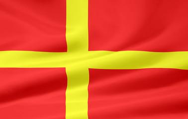 Flagge von Skane - Schweden