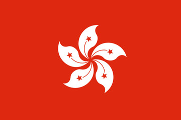 Wall Mural - Hong Kong Flag