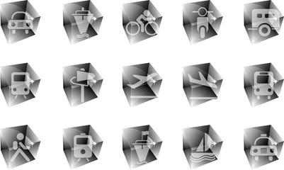 Transportation and Vehicle icons ice