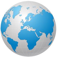 globe blue  vector