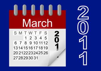 Vector icon calendar 2011.