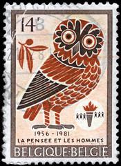 BELGIUM - CIRCA 1981 Owl